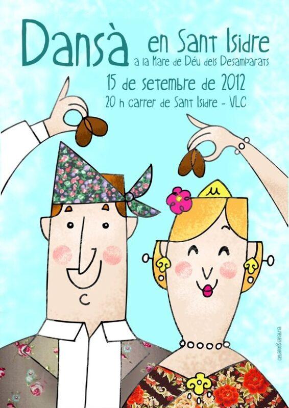Cartel de la dansà que se ha organizado en el barrio de San Isidro para el 15 de septiembre