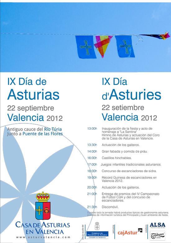 Cartel oficial del Día de Asturías de Valencia
