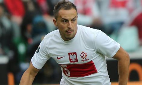 El jugador polaco en un encuentro con la selección polaca