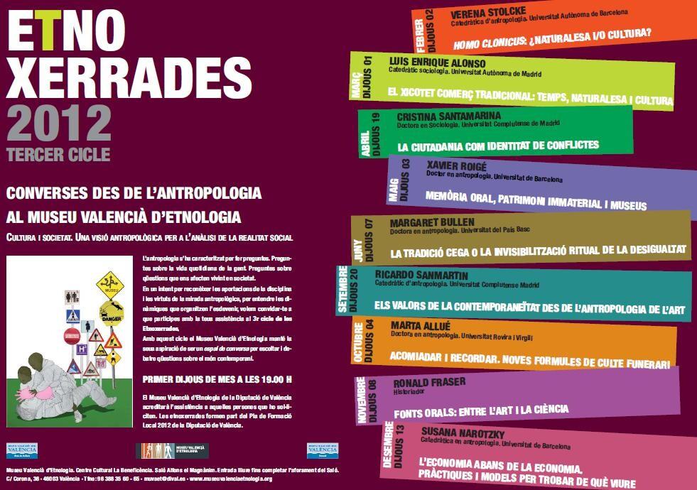 Cartel de las Etnoxerrades que se celebraron a primeros de 2012/diputación