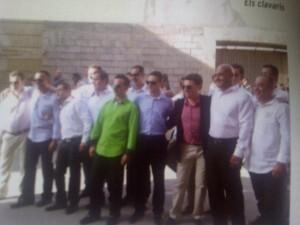 El grupo de festeros de El Oliveral que organiza las fiestas de 2012