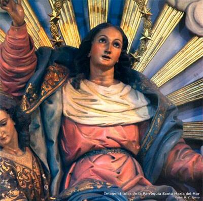 Imagen de la Asunción en la Parroquia de Santa María del Mar del Grao