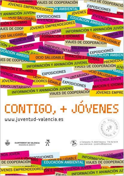 Cartel del área de Juventud dirigido a los jóvenes/vlcciudad
