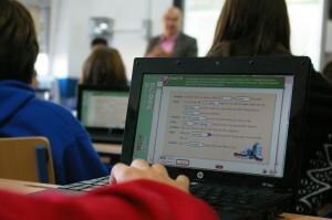 Un aula de un centro andaluz dónde también ésta en marcha el plan de libros digitales