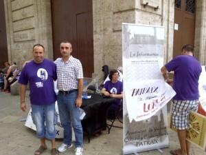 El vecino de Llosa de Ranes que se acercó desde la población con el presidente vecinal/vlcciudad