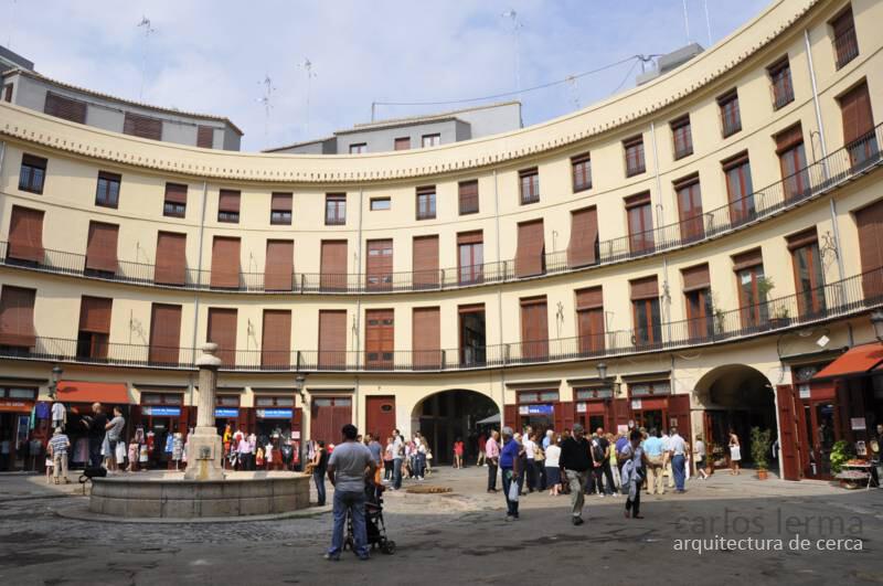 La Plaza Redonda, figuración de la obra terminada