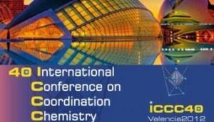Cartel oficial de conferencia internacional de Química/uv