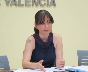 La concejala Rosa Albert, de Esquerra Unida