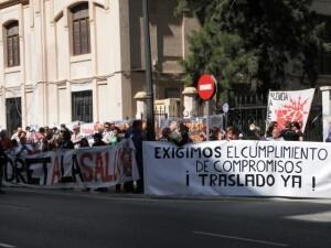 Una de las protestas vecinales que reclamaban el traslado de hace varios años/subestacionpatraix