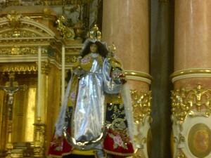 Virgen del Quinche de la iglesia de Santa Mónica de Valencia