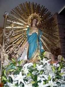La ¨Festa Grossa¨ de la pedania de Pinedo se dedica a la Virgen del Rosario