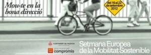Cartel de las jornadas que organiza Compromís por la movilidad
