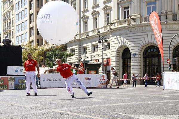 Exhibición en la plaza del Ayuntamiento, en el Día de la Pilota