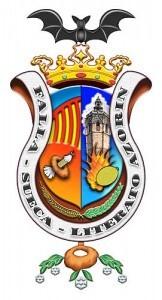 Escudo de la falla Sueca-Literato Azorín