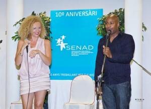 Eugenia Sancho y Julio Montalvo en la cena que hizo SENAD/vlcciudad