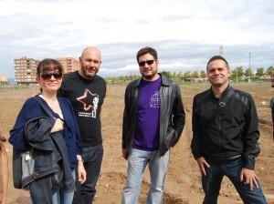 La edil Rosa Albert, los diputados Ricardo Sixto e Ignacio Blanco y el portavoz y coordinador de EU, Amadeu Sanchis/eu
