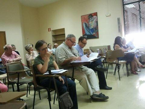 Los vocales en la sesión plenaria de ayer tarde en la junta de Abastos/vlcciudad