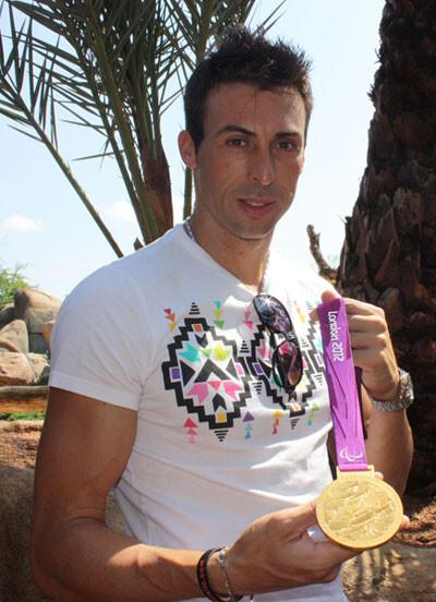 Juan Antonio Expósito, Oro en salto de Longitud en la Paralimpiada de Londres, en Bioparc Valencia