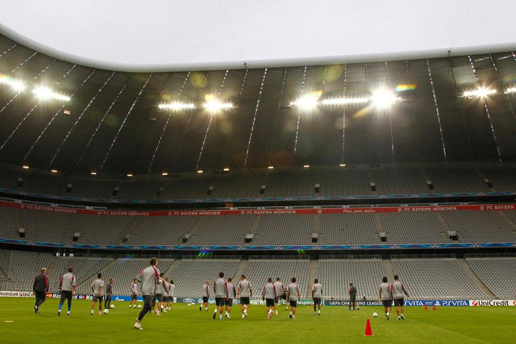 VCF. Entrenamiento en Allianz Arena de Munich