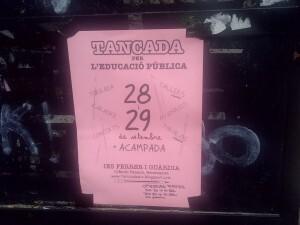 Cartel convocando a padres, madres y alumnos al encierro del IES Ferrer i Guardia/vlcciudad