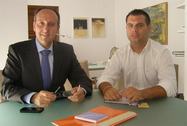 Vicente Ibor y Modesto Martínez durante su reunión