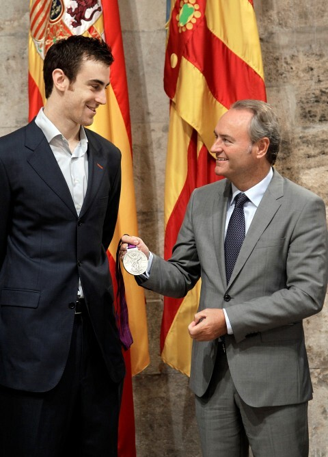 Valencia 31082012. Alberto Fabra recibe a Víctor Claver
