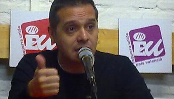 Amadeu Sanchis, portavoz de EU