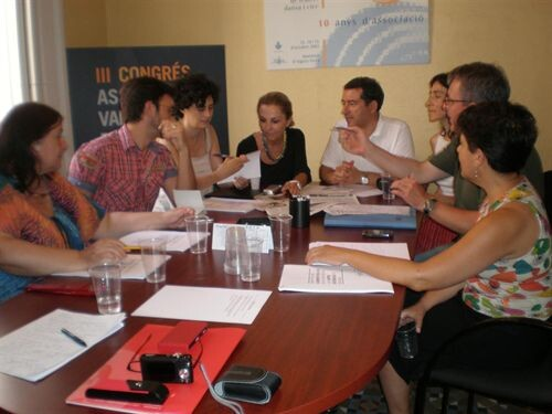 Los representantes de las artes escénicas en una rueda de prensa/avteid