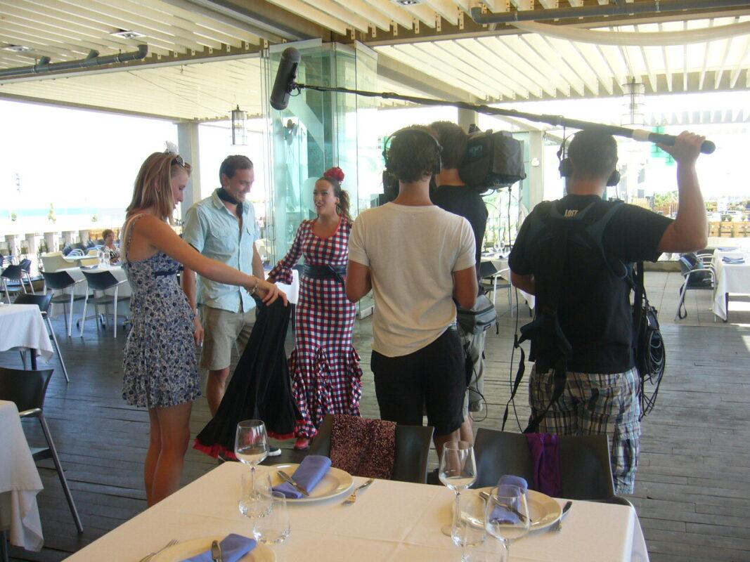 Un momento de la grabación del programa belga en el restaurante/ingenia