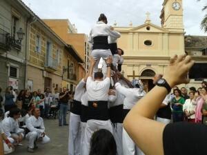 La Muixeranga fue muy ovacionada por los asistentes/aavv benimaclet