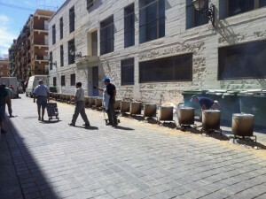 Una vista de la calle donde se han hecho las calderas/m.f.