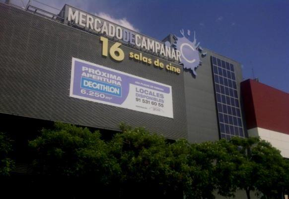 Fachada del complejo Decatlon de Campanar que se abre el 28 de septiembre