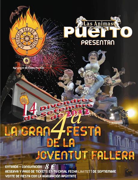 Cartel IV Fiesta de la Juventud Fallera en Las Ánimas - Puerto