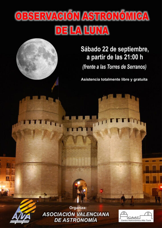 Cartel sobre la observación en las Torres de Serranos el sábado