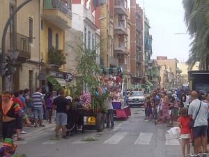 Un aspecto de la calle donde se celebró el festejo/vlcciudad