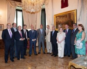 El presidente del Congreso con los directivos de las casas regionales de España/ccr