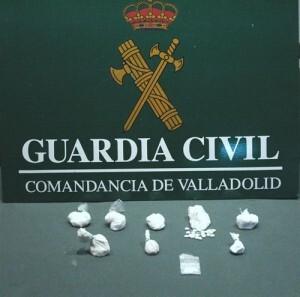 Estupefacientes aprehendidos al valenciano en una ciudad vallisoletana/g.c.