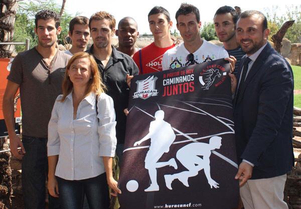 El Huracán C.F se presenta en Bioparc Valencia como nuevo patrocinador del Club Fent Camí de Mislata