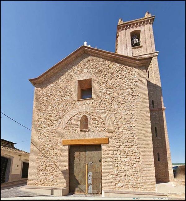Fachada de la iglesia de Beniferri donde se han hecho las obras