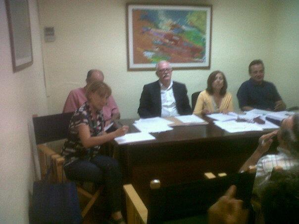 La mesa presidencial del pleno de Patraix bajo la presidencia de Ramón Isidro Sanchis/vlcciudad