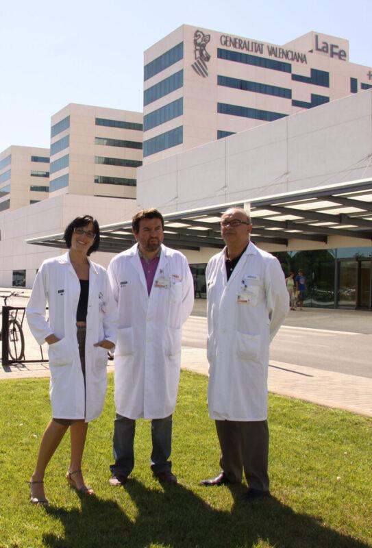 Los responsables del laboratorio de Dosimetría de La Fe/gva