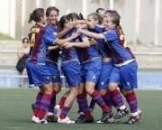 Las chicas del Levante U.D. Femenino celebran un gol en un encuentro pasado/ludfemenino