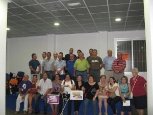 Directivos de Patraix con distintos dirigentes y vecinos de Lorca en la visita que hicieron la semana pasada/aa.vv. patraix