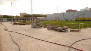 Zona del campo de fútbol del polideportivo de Malilla/gsm