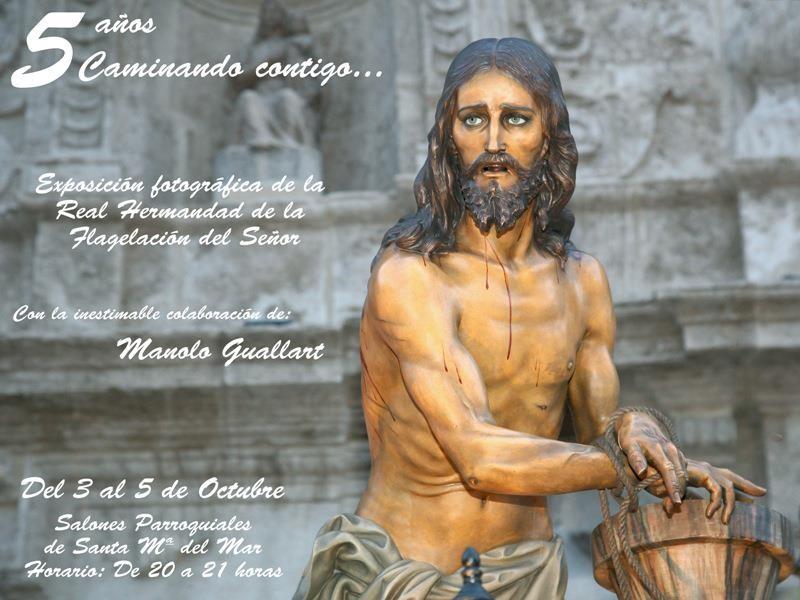 Cartel oficial de la exposición del V aniversario de la Real Hdad. de la Flagelación del Grao