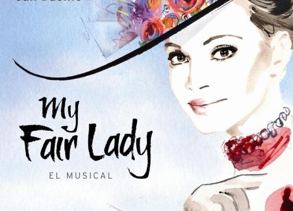 Cartel de My Fair Lady con Paloma Basilio y Juan Gea como protagonistas en Valencia