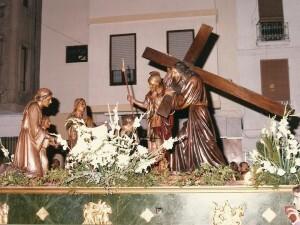 El paso en una de sus últimas salidas procesionales en el Canyamelar/fcm