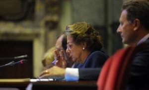 La alcaldesa, Rita Barberá, durante el pleno del pasado viernes/ayto. vlc
