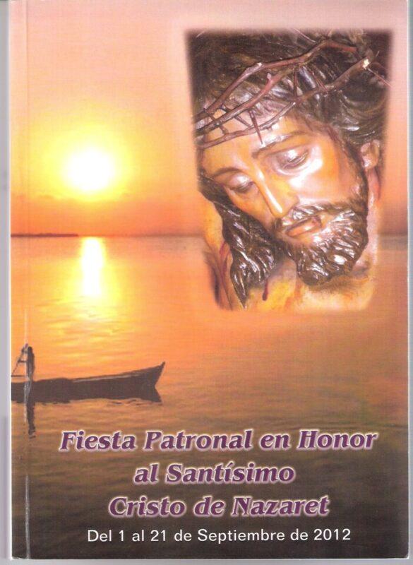 Portada del llibret de las fiestas de Nazaret dedicadas al Cristo/a.barba