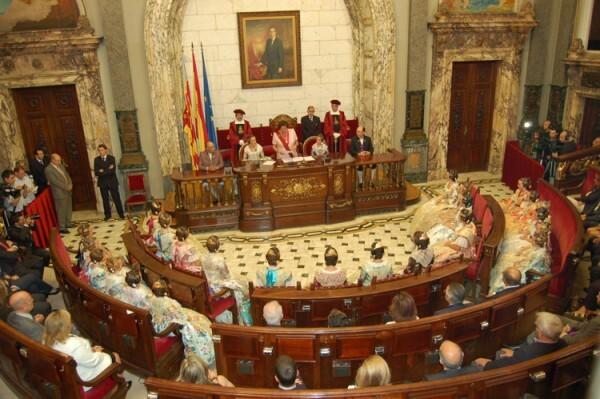 Proclamación de las Falleras Mayores de Valencia 2012
